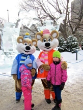 Winterlude mascots - the Ice Hog family