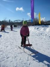Kick sledding