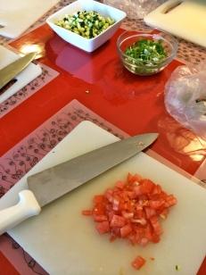 Practising our knife skills